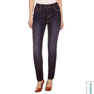 St John's Bay fitted stretchy skinny leg jeans